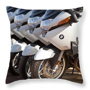 Bmw Police Motorcycles Throw Pillow