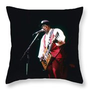Bo Diddley On The Stage Throw Pillow