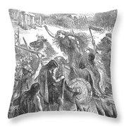 Boadicea (d. 62 A.d.) Throw Pillow