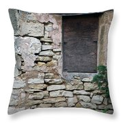 Boarded Window England Throw Pillow