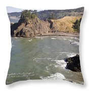Boardman State Park Throw Pillow
