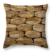 Boards In A Stack Throw Pillow