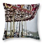 Boardwalk Carousel Throw Pillow