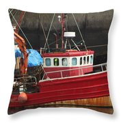Boat 0001 Throw Pillow