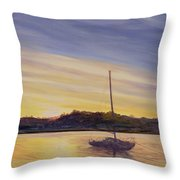 Boat At Rest Throw Pillow