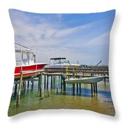 Boat Caddy Throw Pillow