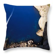 Boat In The Sea Throw Pillow