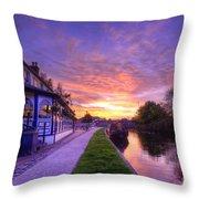 Boat Inn Sunrise 1.0 Throw Pillow
