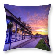 Boat Inn Sunrise 2.0 Throw Pillow