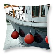 Boat Time Throw Pillow