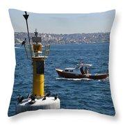Boat Watchers Throw Pillow