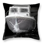 Boat With Protection Throw Pillow