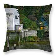 Boathouse Boy Fishing Throw Pillow