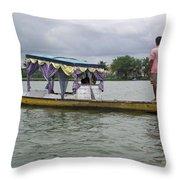Boatman Taking A Couple Out On A Shikhara Throw Pillow