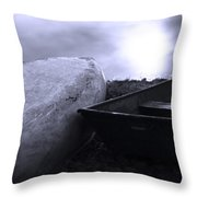 Boats By The Pond Throw Pillow
