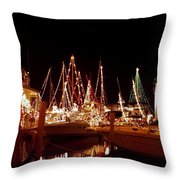 Boats Lighted Throw Pillow
