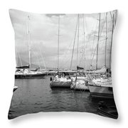 Boats Meeting Throw Pillow