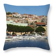 boats of Sant Antioco III Throw Pillow