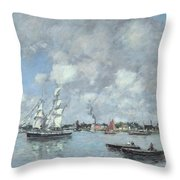 Boats On The Garonne Throw Pillow
