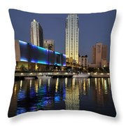 Boats On The Hillsborough Throw Pillow