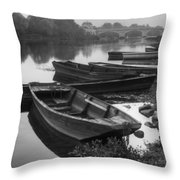 Boats On The Vienne Throw Pillow