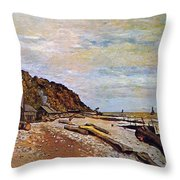 Boatyard Near Honfleur Throw Pillow by Claude Monet