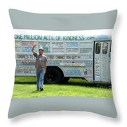 Bob And The Kindness Bus Throw Pillow