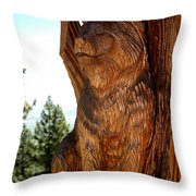 Bobcat Sentinel Throw Pillow