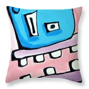 Bobmo The Robot Throw Pillow