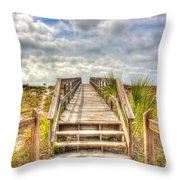 Boca Grande Boardwalk Throw Pillow