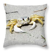 Boca Grande Crab Throw Pillow
