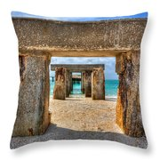 Boca Grande Fishing At Broken Bridge Throw Pillow