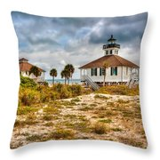 Boca Grande Lighthouse Throw Pillow by Jenny Ellen Photography
