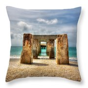 Boca Grande Ruins In Paradise Throw Pillow