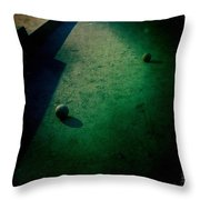 Bocce Ball Court Throw Pillow