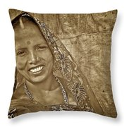 Bodhgaya Bride Throw Pillow