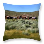 Bodie Ghost Town Landscape Throw Pillow