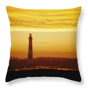 Bodie Island Lighthouse, Oregon Inlet Throw Pillow
