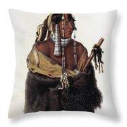 Bodmer: Young Mandan Throw Pillow