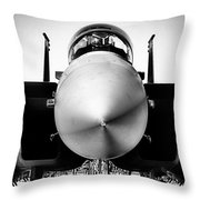 Boeing F-15sg Eagle Black And White Throw Pillow