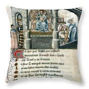 Boethius (c480-524) Throw Pillow