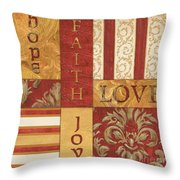 Bohemian Red Spice 1 Throw Pillow