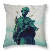 Bohemian Saint Throw Pillow by Linda Woods
