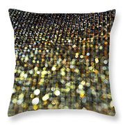 Bokeh Bling Watercolor Photoart Throw Pillow