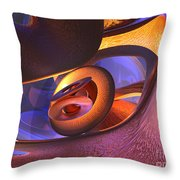 Bold Contagion Abstract Throw Pillow