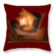 Bold Shapes On Red Throw Pillow