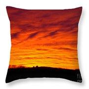 Bold Sunset Throw Pillow