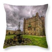 Bolsover Castle And Garden Throw Pillow