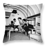 Bomb Shelter, 1955 Throw Pillow