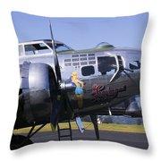 Bomber Sentimental Journey Throw Pillow
